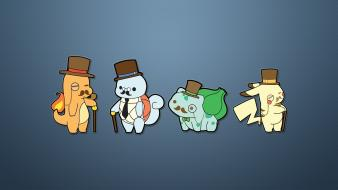 Pokemon bulbasaur pikachu squirtle gentlemen monocle charmander aristocracy wallpaper