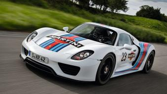 Porsche cars martini 918 spyder races wallpaper