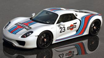 Porsche cars sports white 918 spyder prototype racing Wallpaper