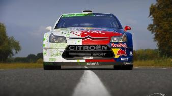 Red bull wrc citroen c4 rally car racing wallpaper