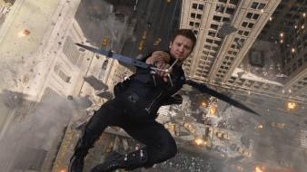 Renner the avengers (movie) bow (weapon) falling wallpaper