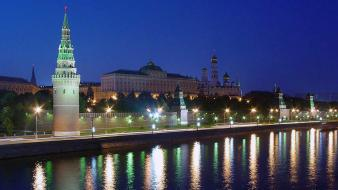 Russia moscow night view Wallpaper