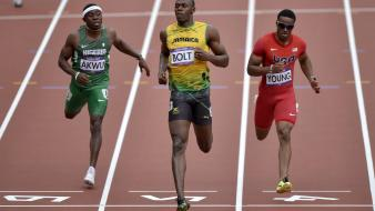 Sports running track usain bolt olympics 2012 wallpaper