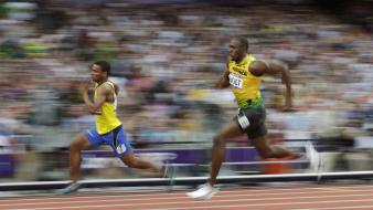 Sports running usain bolt olympics 2012 wallpaper