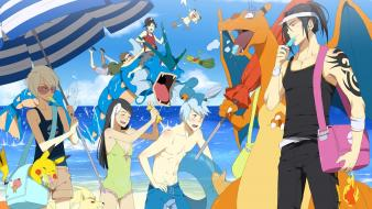 Treecko swimsuits umbrellas charizard meowth ninetales wingull wallpaper