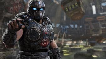 Video games gears of war armored suit wallpaper