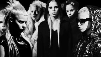 Women music people monochrome die antwoord yolandi visser wallpaper