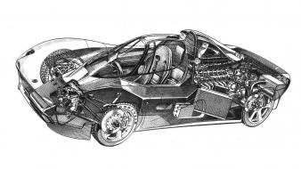 Yamaha supercars drawings white background rare ox99-11 wallpaper