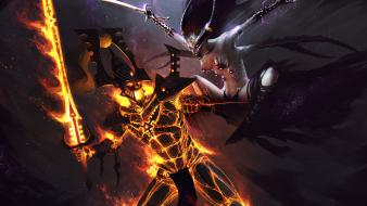 Art armor battles slaanesh artwork swords demon wallpaper