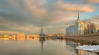 Artwork cities sea shorelines embankment quay russians wallpaper