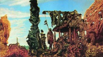 Artwork german traditional art max ernst surreal Wallpaper