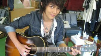 Asians guitars taiwan singers actors wallpaper