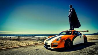 Batman beach funny porsche 911 photomanipulation Wallpaper