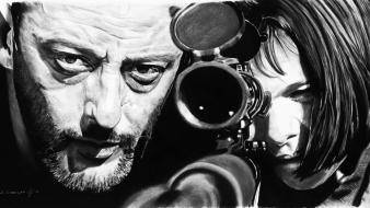 Beard artwork realistic mathilda drawings hollywood léon Wallpaper