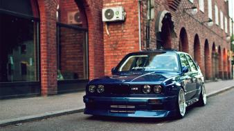 Blue cars evolution bmw m3 e30 wallpaper