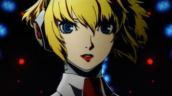 Blue eyes persona 3 4: arena aigis wallpaper