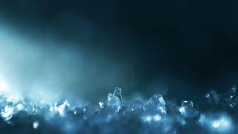 Blue glass crystals macro blurred Wallpaper
