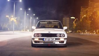 Bmw cars white e30 front view stance wallpaper