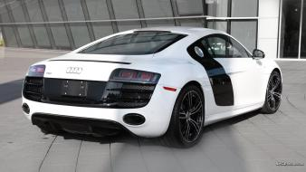 Cars audi r8 coupe sports white wallpaper