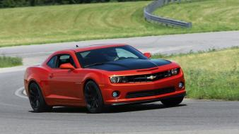 Cars red sports race tracks chevrolet camaro 1le wallpaper