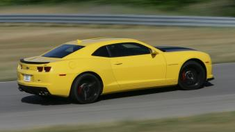 Cars sports yellow race tracks chevrolet camaro 1le wallpaper