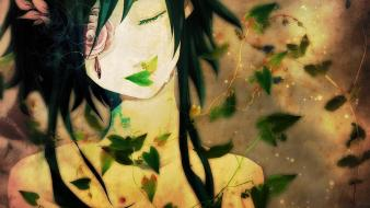 Crying closed eyes megpoid gumi roses faces wallpaper
