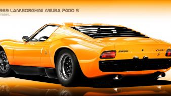 Digital art vehicles lamborghini miura collectors vexel Wallpaper