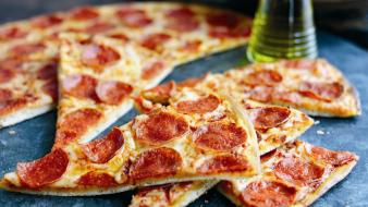 Food pizza cheese pepperoni wallpaper