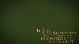 Green quotes life enjoy wallpaper