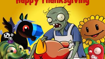 Happy thanksgiving plants vs. zombies wallpaper