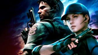 Jill valentine chris redfield resident evil 5 wallpaper