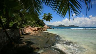 Landscapes nature beach tropical wallpaper