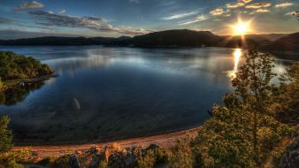 Landscapes sunlight lakes wallpaper