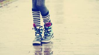 Leg knee socks striped legwear wallpaper
