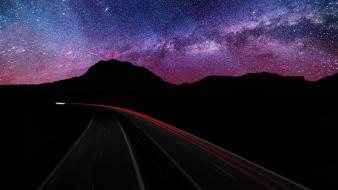 Long exposure milky way hdr photography skyscapes Wallpaper