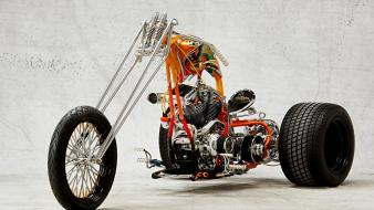 Motorbikes tricycles assembled bikes choppers wallpaper
