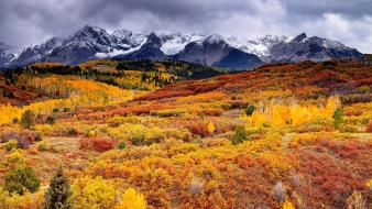 Mountains clouds landscapes nature autumn (season) skyscapes wallpaper