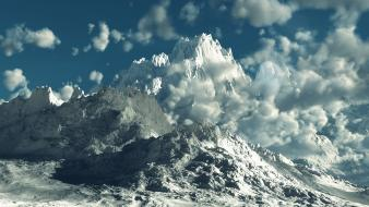 Mountains nature k2 3d skyscapes wallpaper
