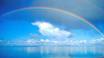 Nature rainbows seascapes wallpaper
