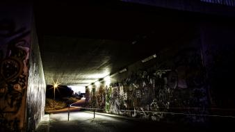 Night germany graffiti urban underpass wallpaper