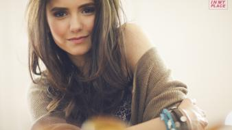 Nina dobrev me in my place magazine wallpaper