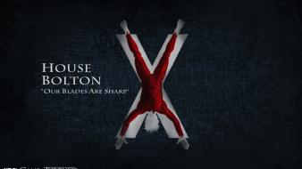 Of thrones logos tv series house bolton wallpaper