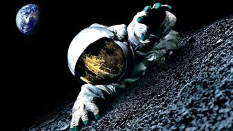 Outer space moon earth spaceman apollo 18 (movie) wallpaper