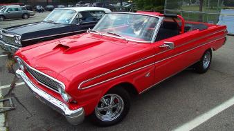 Red custom convertible 1964 ford falcon wallpaper