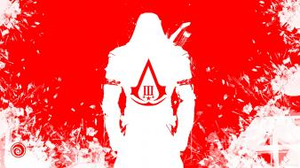 Red white 3 simple background connor kenway wallpaper