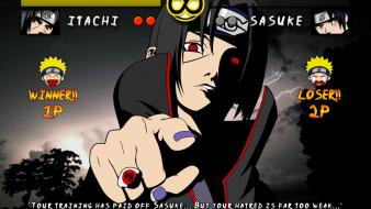 Sharingan red eyes uzumaki naruto pointing competition wallpaper