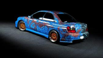 Subaru art car jdm wallpaper