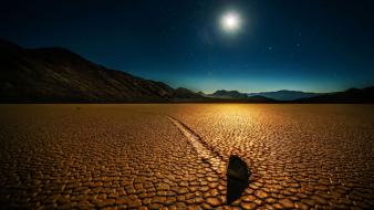 Sun rock fields death valley mysterious pictorial wallpaper