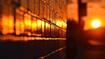 Sun wall golden sunlight blurred background wallpaper