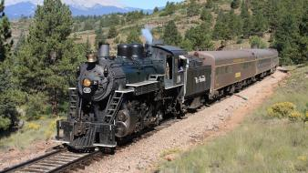 Trains locomotives steam sierra widescreen 2-8-0 wallpaper